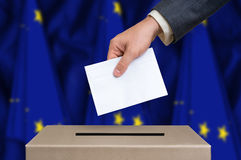 Election in European Union - voting at the ballot box Royalty Free Stock Images