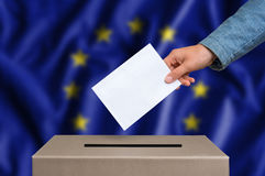 Election in European Union - voting at the ballot box Royalty Free Stock Photography