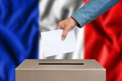 Election in France - voting at the ballot box royalty free stock photography