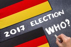 Election 2017, Germany on the chalk board. Election concept Royalty Free Stock Photography