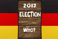 Election in Germany, 2017. political concept. Election in Germany. GERMANY, 2017, VOTE, inscription on a wooden background.  political concept Royalty Free Stock Photos