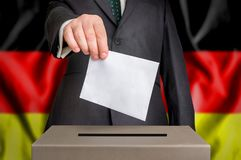 Election in Germany - voting at the ballot box Stock Image