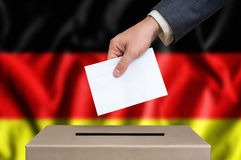 Election in Germany - voting at the ballot box Stock Images