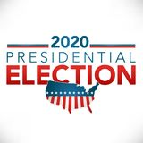 Election header banner with Vote. And 2020 presidential election Stock Photo