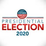 Election header banner with Vote. 2020 Presidential election Stock Image