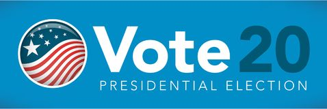 Election header banner with Vote. Election header banner w/ Vote with 2020 presidential election Stock Image