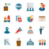 Election Icon Flat Royalty Free Stock Images