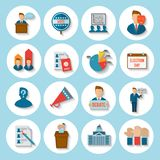 Election Icon Flat Stock Image