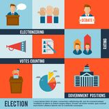 Election Icon Flat Royalty Free Stock Photo