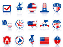 Election icons and buttons Royalty Free Stock Image