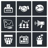 Election Icons collection Stock Images