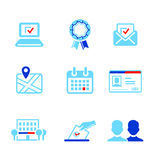 Election icons Royalty Free Stock Photos