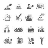 Election Icons Set Stock Photos