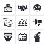 Election Icons set Stock Image