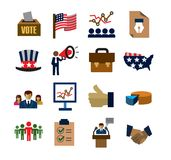 Election icons Royalty Free Stock Image