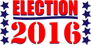 Election 2016. Illustration or web icon for the American vote Stock Image