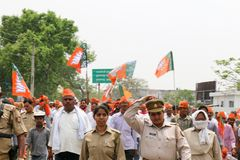 BJP flags Royalty Free Stock Photography