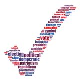 Election info-text graphics and arrangement concept. (word cloud) on white background Stock Images