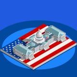 Election Infographic Congress Vector Isometric Building Stock Photo