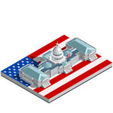 Election Infographic Politic Congress Vector Isometric Building Stock Photography