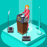 Election Infographic Politic Work Vector Isometric People v Royalty Free Stock Photo