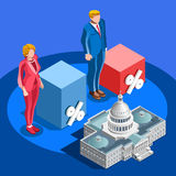 Election Infographic Pools Candidate Vector Isometric People Stock Photography
