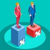 Election Infographic Pools Politics Vector Isometric People Stock Photo