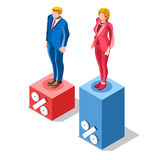 Election Infographic Pools Presidential Vector Isometric People Stock Images