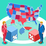 Election Infographic Us President Vector Isometric People Royalty Free Stock Photo