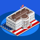 Election Infographic White House Us Vector Isometric Building Stock Image