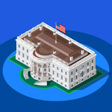 Election Infographic White House Vector Isometric Building Royalty Free Stock Images