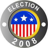 Election logo. US presidential elections logo isolated on white Royalty Free Stock Photo