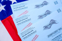 Election. Mail ballots for US  election Royalty Free Stock Photo