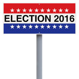 Election. A modified sign indicating Election 2016 Royalty Free Stock Photos