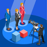 Election News Infographic Candidate Vector Isometric People Stock Photo