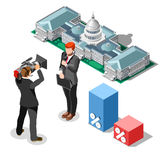 Election News Infographic Congress Vector Isometric People Stock Photos