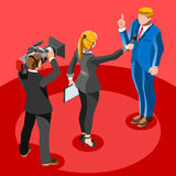 Election News Infographic Latest News Vector Isometric People Stock Images