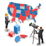 Election News Infographic Parliament Vector Isometric People Royalty Free Stock Photo
