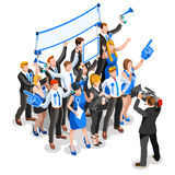 Election News Infographic Party Rally Crowd Vector Isometric Peo Royalty Free Stock Image