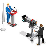 Election News Infographic Presidential Vector Isometric People Stock Images