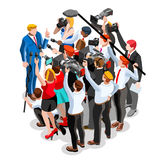 Election News Infographic Vote Pools Vector Isometric People Royalty Free Stock Photography