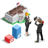 Election News Infographic White House Us Vector Isometric People Stock Photography