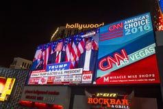 Election night in Las Vegas Royalty Free Stock Photos