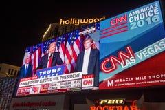 Election night in Las Vegas Stock Photo
