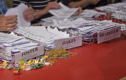 Election papers being counted during the Election Royalty Free Stock Photo