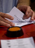 Election papers being counted at the Election Royalty Free Stock Photos