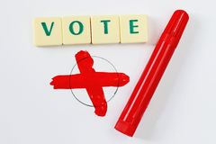 Election and pen Stock Photography