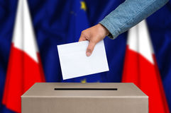 Election in Poland - voting at the ballot box stock photography