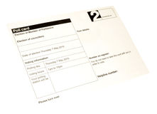 Election Poll Card Royalty Free Stock Images