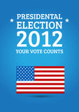Election poster. With UAS flag and phrase: Your vote counts Royalty Free Stock Photo